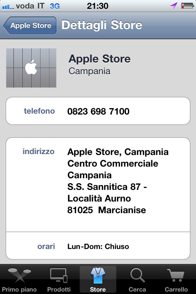 Sabato apre l 39 apple store al campania imaccanici for Apple store campania